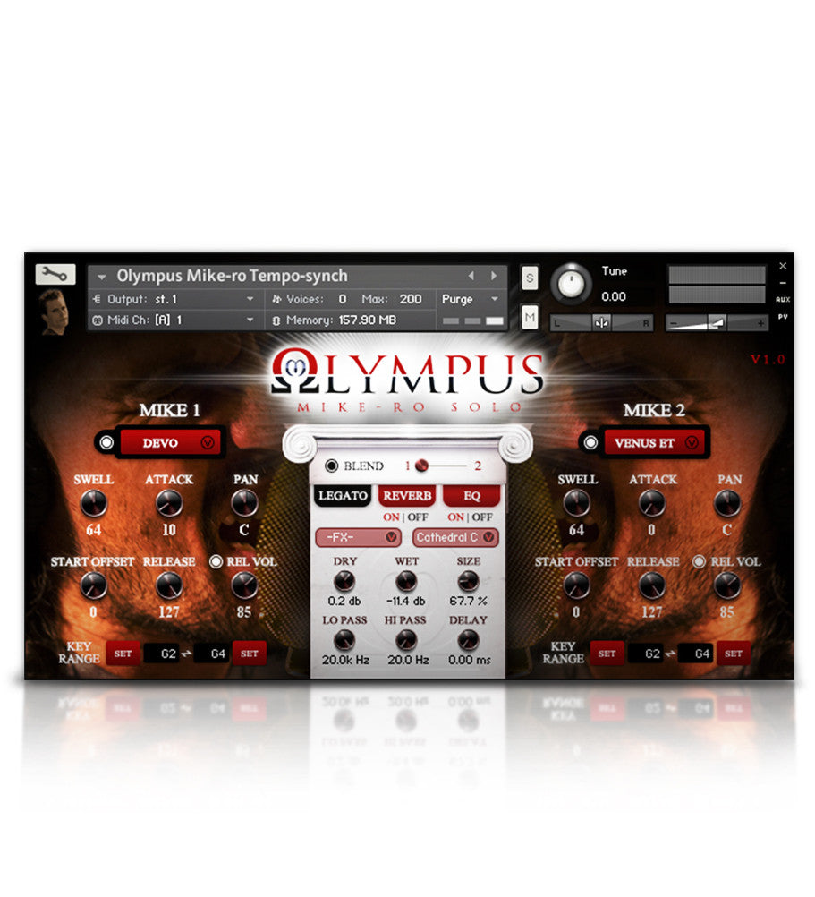 Olympus Mike-Ro Solo Tenor - Solo Voice - virtual instrument sample library by Soundiron