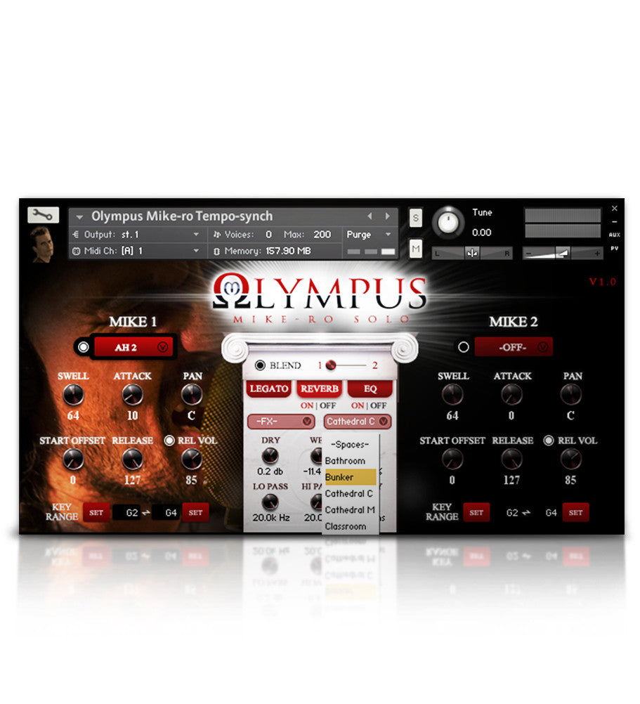 Olympus Mike-Ro Solo Tenor - Solo Voice - virtual instrument sample library for Kontakt by Soundiron