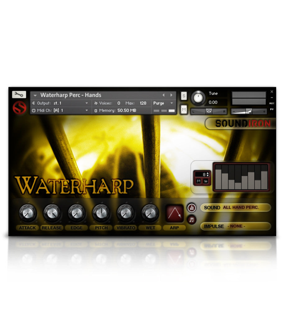 Waterharp - Tuned Percussion - virtual instrument sample library for Kontakt by Soundiron