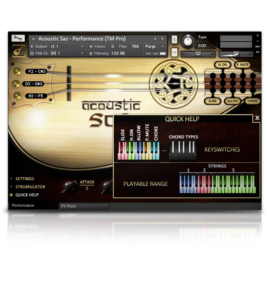Acoustic Saz - Strings - virtual instrument sample library by Soundiron