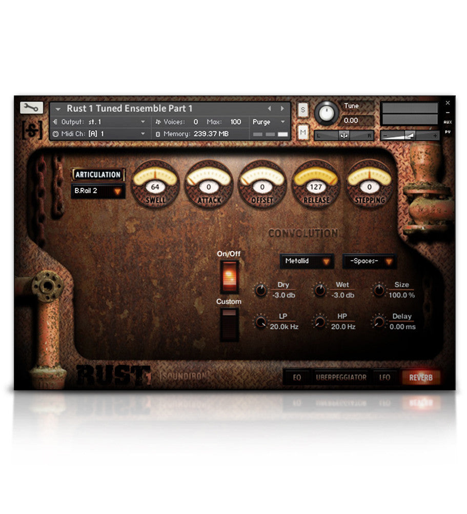 Rust 1 - Metal - virtual instrument sample library for Kontakt by Soundiron