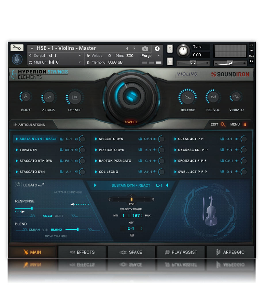 Hyperion Strings Elements - Strings - virtual instrument sample library for Kontakt by Soundiron