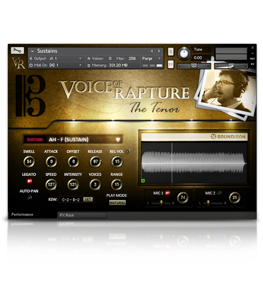 Voice of Rapture: The Tenor - Solo Voice - virtual instrument sample library by Soundiron