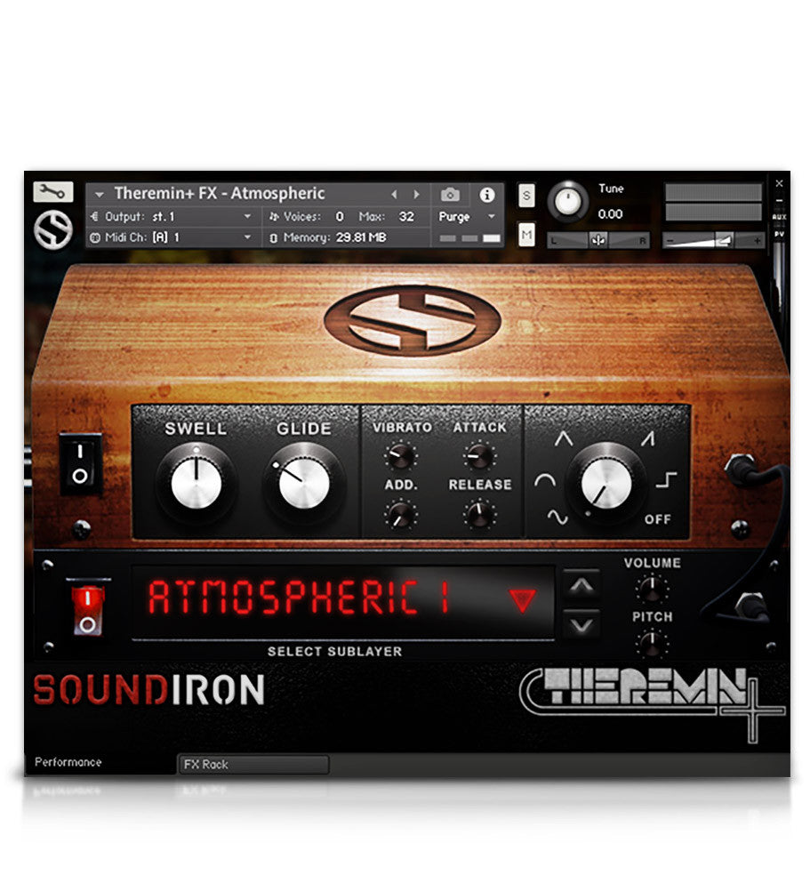 Theremin+ - Atmospheres - virtual instrument sample library for Kontakt by Soundiron