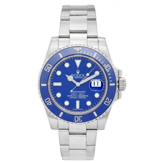 "Rolex Submariner ""Smurf"" in White Gold"