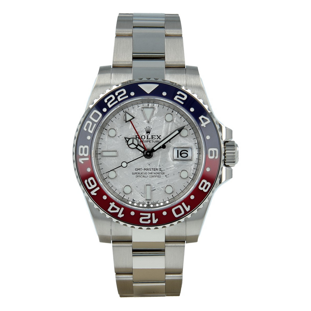 "Rolex GMT-Master II ""Pepsi"" Meteorite Dial in White Gold"