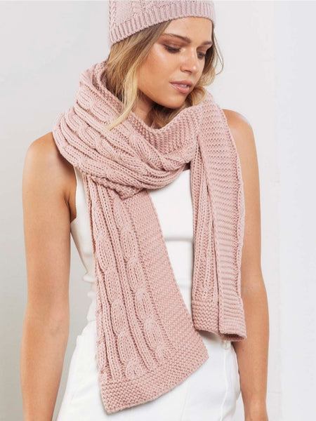 Cable Knit Scarf