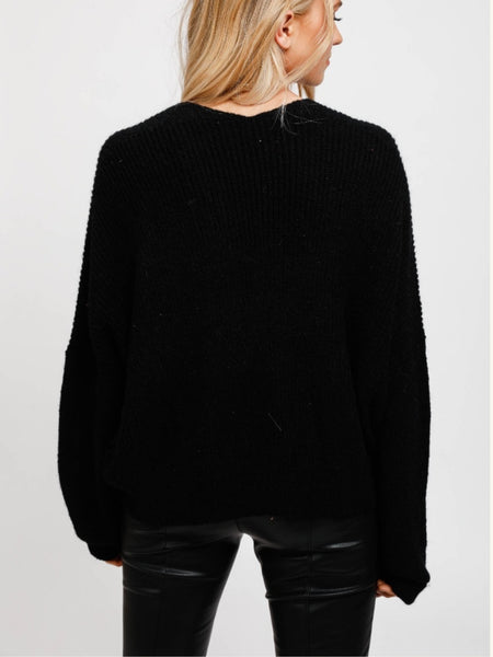 Heart of Stone knit - Black