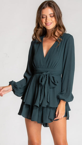 Pippa V-neck Playsuit
