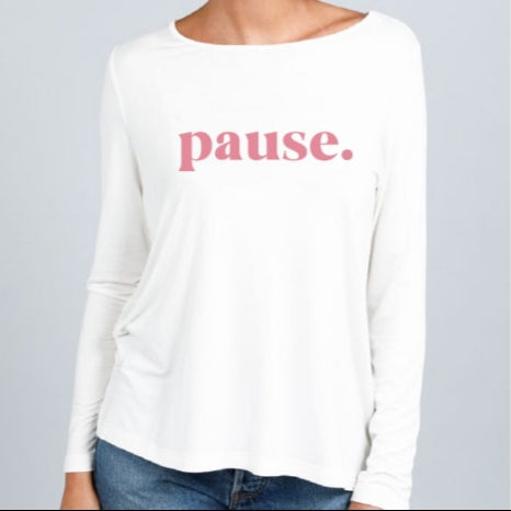 Pause - Long Sleeve Tee