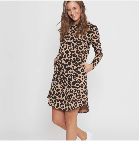 Emerson Dress - Tan Leopard