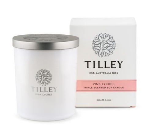 Tilley Soy Candle - Pink Lychee