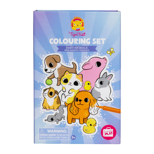 Colouring Set - Baby Animals