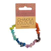 Crystal Chip Bracelet - Chakra colours