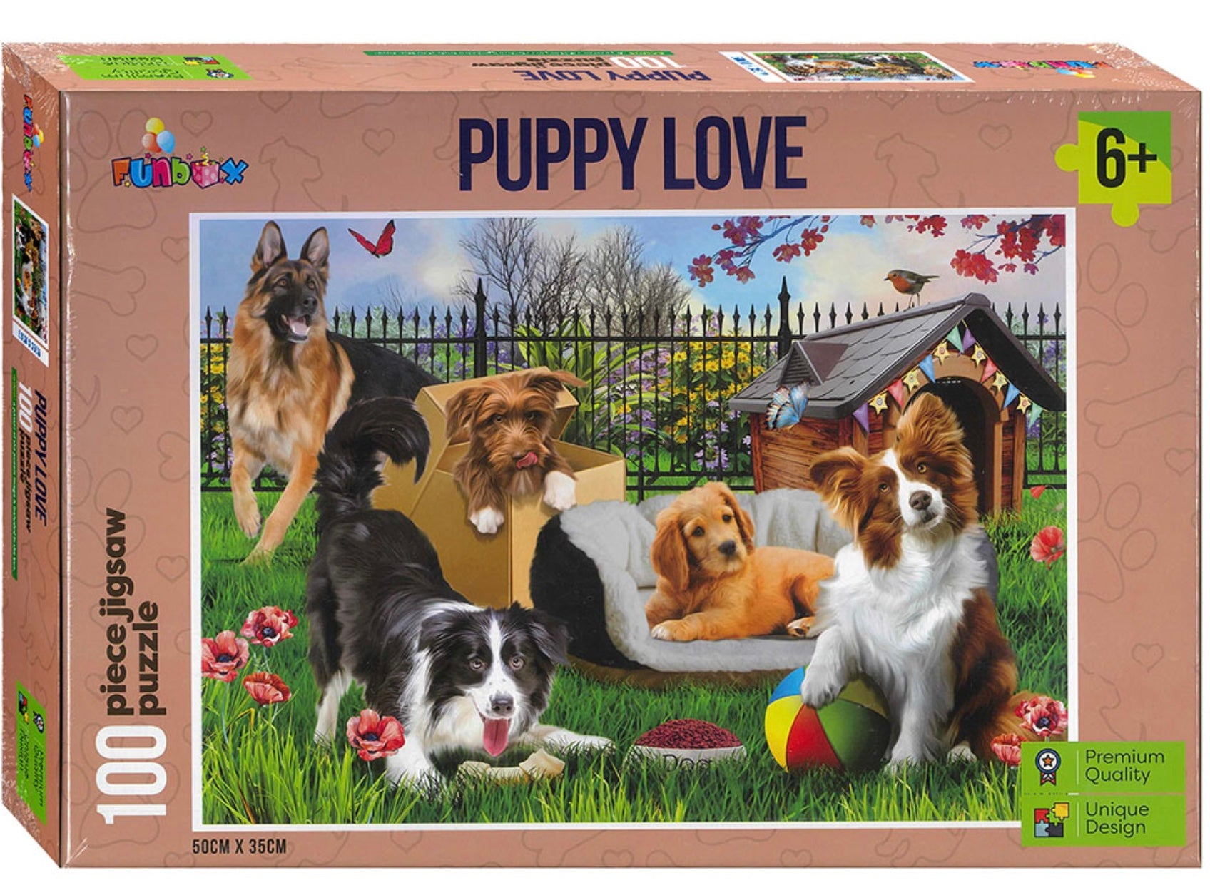Jigsaw Puzzle - Puppy Love (100 pce)