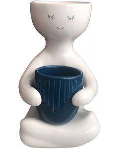 Planter - Person holding a pot (navy)