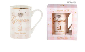 Mad Dots 21st Birthday Mug