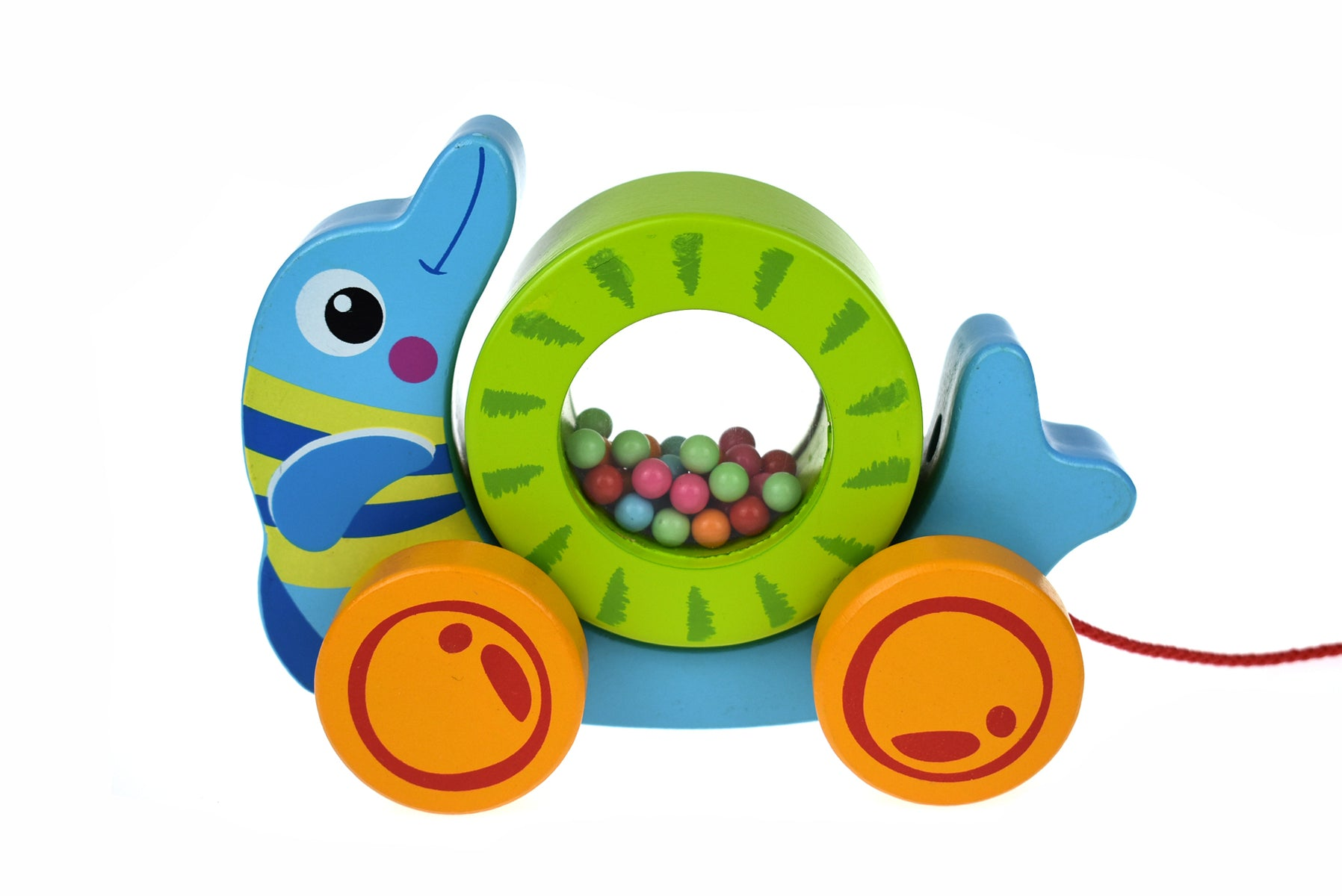 Wooden Toy - Pull Along Dolphin