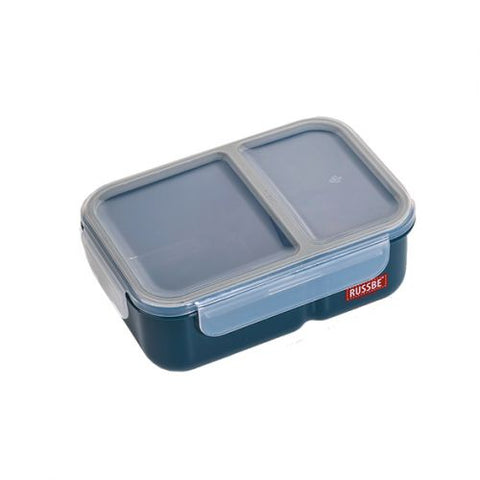 "Russbe ""Inner Seal"" two compartment lunch Bento 1.1L - Navy"