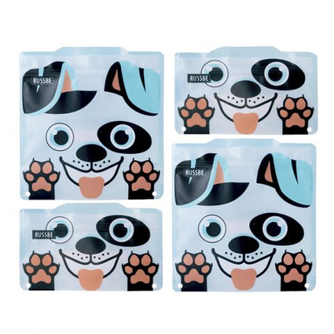 Reusable Snack & Sandwich Bag - Dog (set of 4)