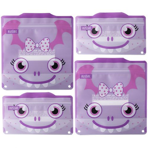 Reusable Snack & Sandwich Bag - Monster (set of 4)