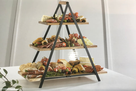 Serve & Share Acacia Wood Serving Tower