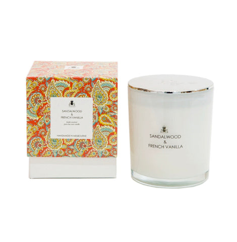 Paisley Collection - Sandalwood & French Vanilla soy candle
