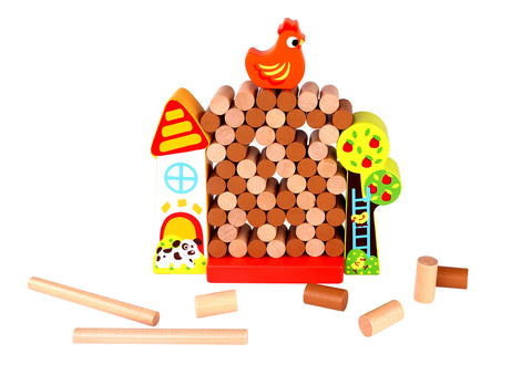 Wooden Toy - Jenga Farm
