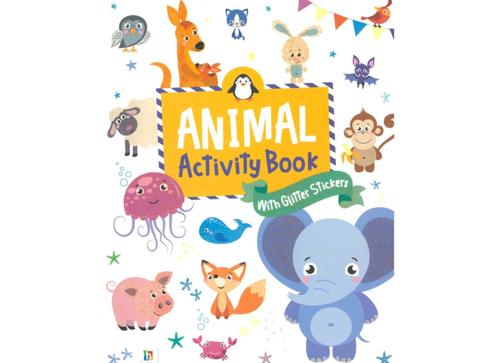 Activity Book - Animals with glitter stickers