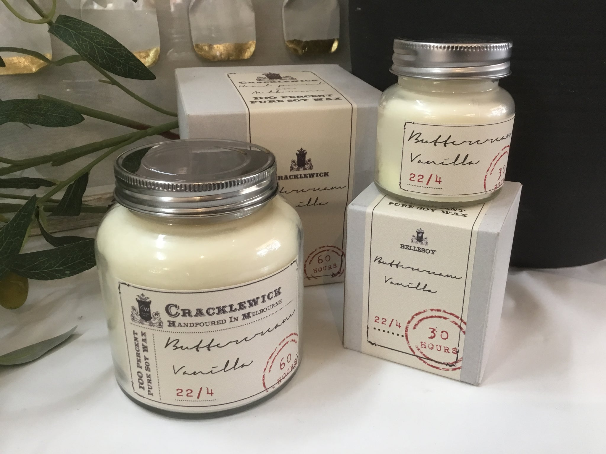 Vintage Collection Cracklewick Soy Candle - Buttercream & Vanilla