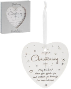 Christening - Heart Plaque