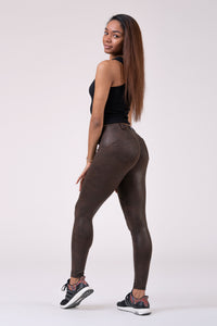 Nebbia Leather Look Bubble Butt pants 538 - stayfitinside.ca