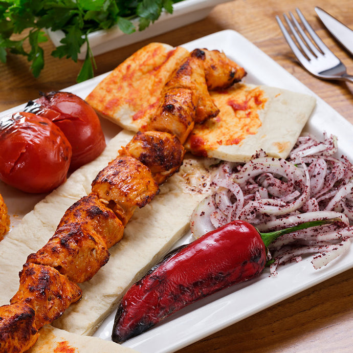 Chicken shish plate