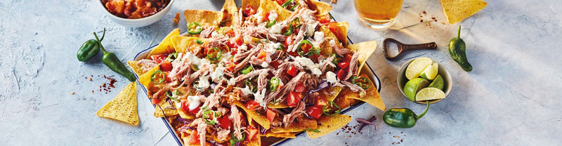 Pulled Pork Nachos with Pineapple Salsa