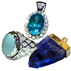 Great prices on gold jewelry set with colored gemstones