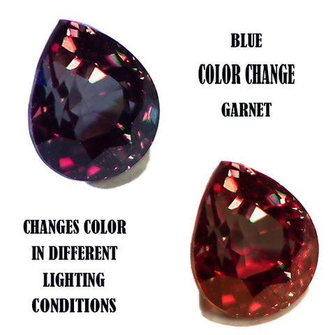 Blue color change garnet, collecting rare gemstones, collecting colored gems, PAK Designs