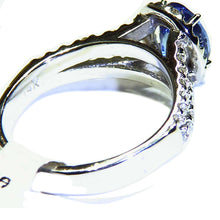 Load image into Gallery viewer, Split shank Tanzanite & diamond white gold ring