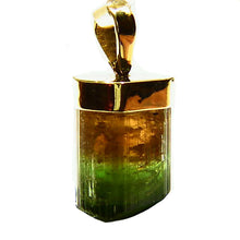 Load image into Gallery viewer, Big Congo Tourmaline crystal 14k gold pendant