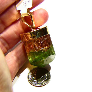 All natural 106ct tri color Tourmaline crystal