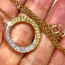 Load image into Gallery viewer, Nice diamond & yellow sapphire estate necklace