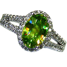Load image into Gallery viewer, All natural sparkling rare green sphene