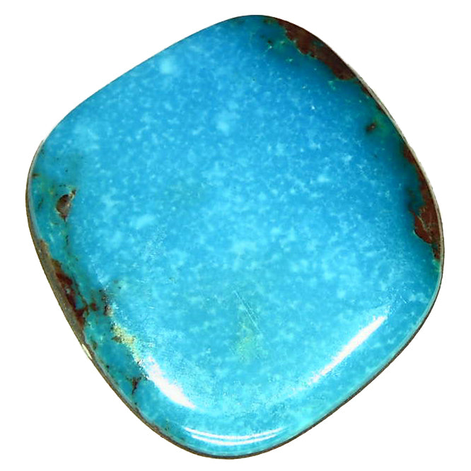 Rich blue, natural Bisbee turquoise cab