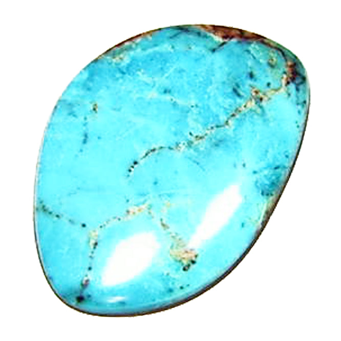Bisbee turquoise cabochon ready to set in a pendant