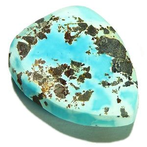 Untreated, bright sky blue, Lone Mountain turquoise cab