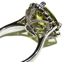 Load image into Gallery viewer, Big Zultanite and diamond ring in 14k white gold