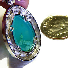 Load image into Gallery viewer, All natural inspiration mine gem silica & diamond gold pendant