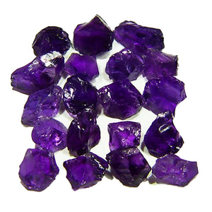 Flawless Amethyst facet rough parcel from Bolivia