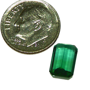 Natural blue, green tourmaline American cut