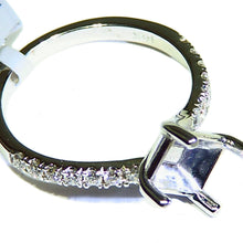 Load image into Gallery viewer, White gold diamond semi mount ring solitaire