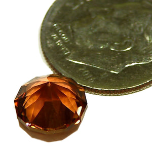 Rich copper color, natural, faceted Tourmaline